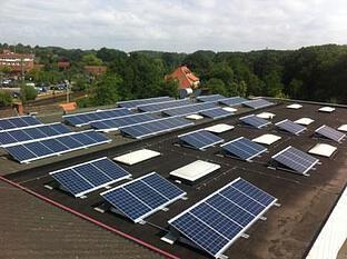42,08 kWp Flachdachanlage