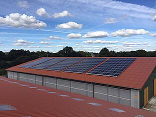 82,8 kWp Anlage auf neuem Stall