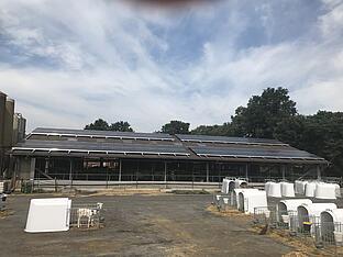 Photovoltaik-Anlage auf Stall