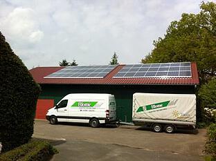 Photovoltaik-Anlage auf landwirtschaftlichem Gebäude